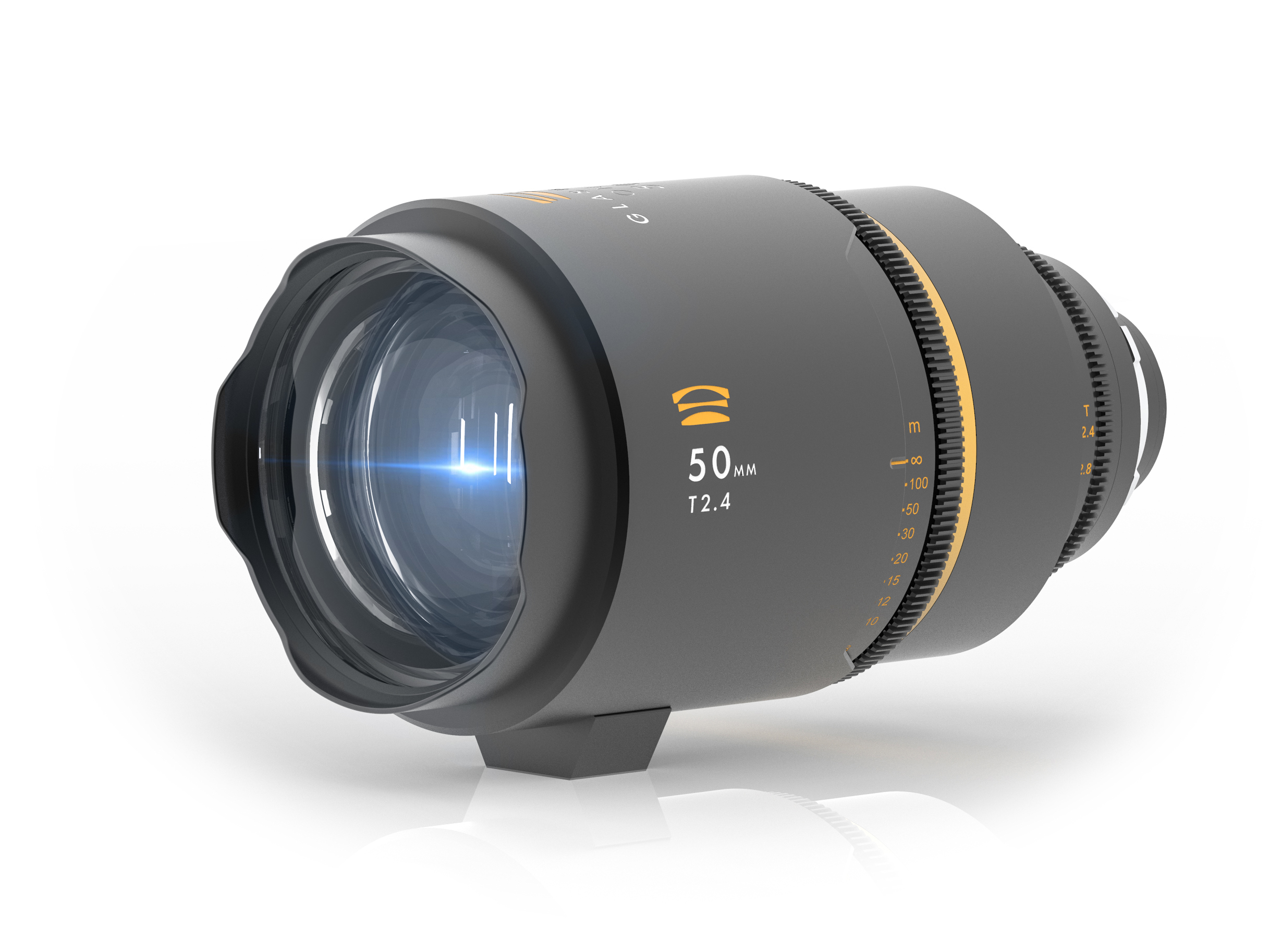 Glaswerk One 50mm anamorphic lens blue flare